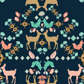 Deer Folk Art