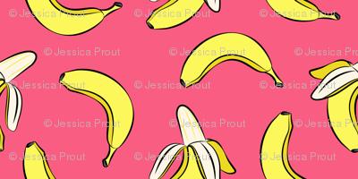 bananas - hot pink