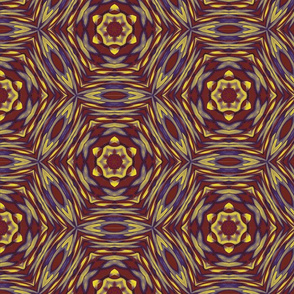 Kaleidoscope Regal Rounds Brown and Yellow Upholstery Fabric