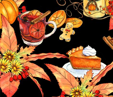 FALL SEASON fabric by cozycloud on Spoonflower - custom fabric