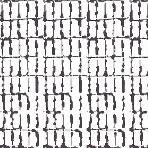 Grid Vertical Rectangles Black and White Upholstery Fabric