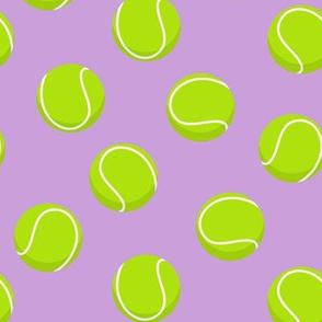 tennis balls on purple