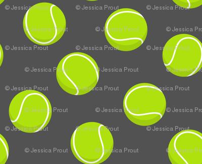 tennis ball on dark grey