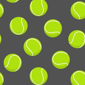 tennis ball on dark grey