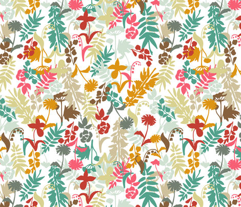 Flowers field fabric by kira_culufin on Spoonflower - custom fabric