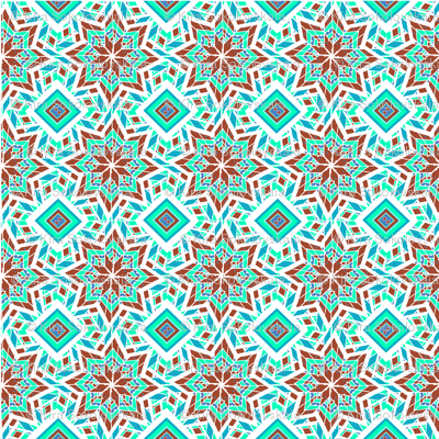Geometric pattern in Aztec style