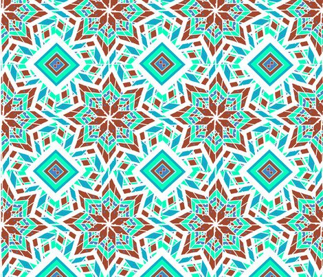 Geometric pattern in Aztec style fabric by kira_culufin on Spoonflower - custom fabric