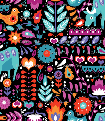 Colorful Swedish Folk Art