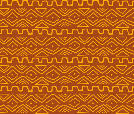 Mud Cloth - Rust fabric by thewellingtonboot on Spoonflower - custom fabric