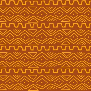 Mud Cloth - Rust