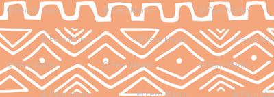 Mud Cloth - Orange