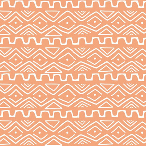 Mud Cloth - Orange