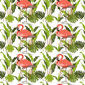 Flamingo Palm Leaves