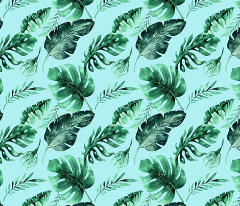 Tropical florals 2 fabric by peace_shop on Spoonflower - custom fabric