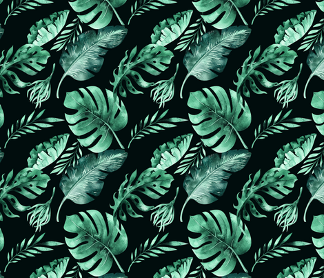 Tropical florals 4 fabric by peace_shop on Spoonflower - custom fabric