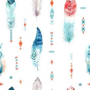 Feather boho design 2