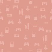 Game Controllers Pink - nursery geeky gamers
