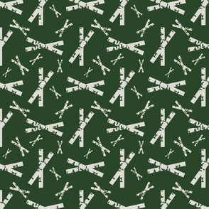 Crisscross White on Spinach Green Upholstery Fabric