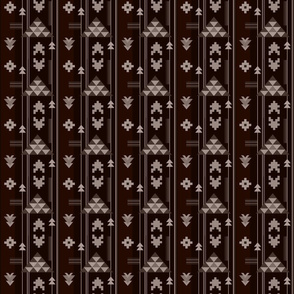 Bohemian Rug in Dark Brown