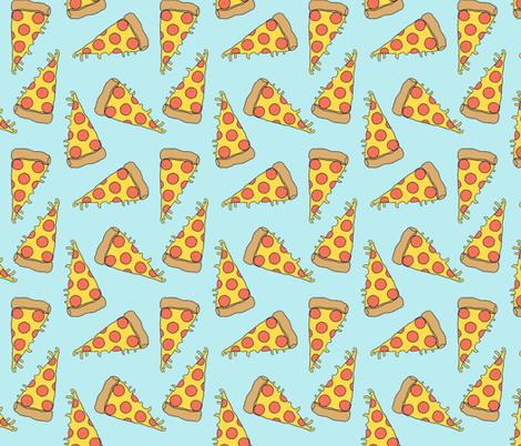 pizza // light blue pastel pizza junk food fabric junk food fabrics kids 90s fabric fabric by andrea_lauren on Spoonflower - custom fabric