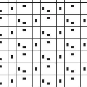 Geometric black and white line minimalistic pattern.