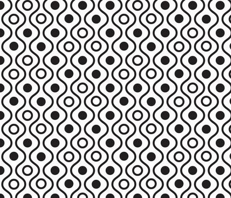 Geometric black and white wavy pattern fabric by yopixart on Spoonflower - custom fabric