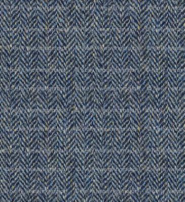 faux tweedy grey herringbone