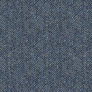 faux tweedy grey herringbone