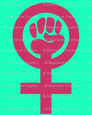 Fist Symbol Turq