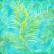 Breezy Palms Turquoise 300