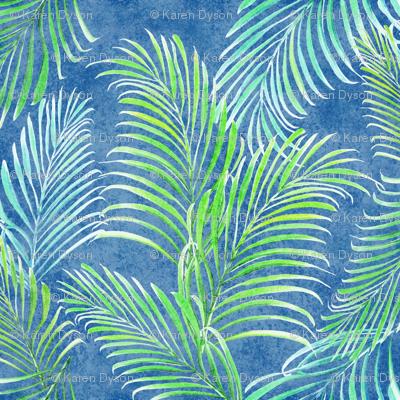 Breezy Palms Navy 300