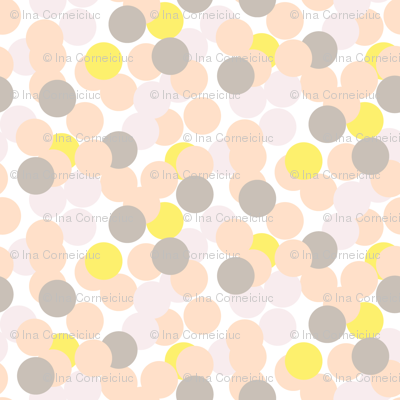 Confetti pale pink and grey