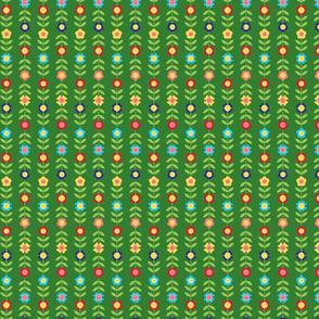 Folk Art Flower Vine - Colorway 1