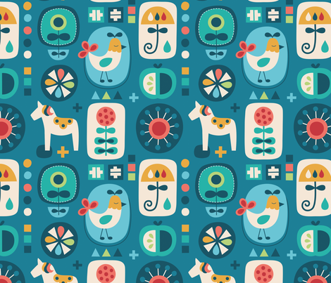 swedish_folk fabric by la_fabriken on Spoonflower - custom fabric