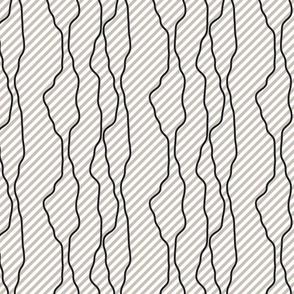 Black fine diagonal rough line pattern