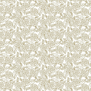 Floral roses wedding dense line pattern