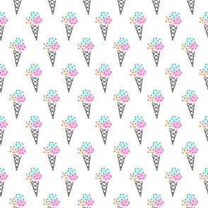 Neon color pop art ice cream