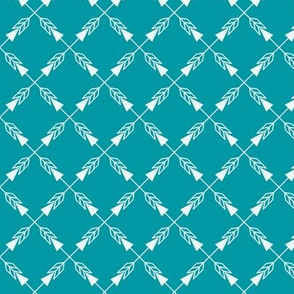 Crossed Arrows in Teal