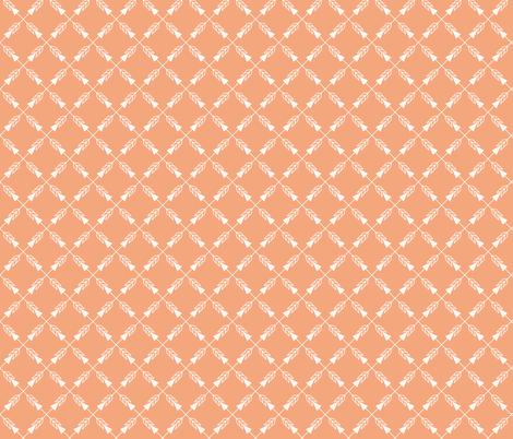 Crossed Arrows in Orange fabric by thewellingtonboot on Spoonflower - custom fabric