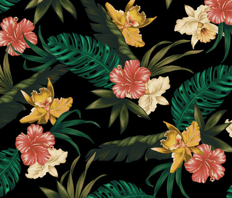 Coco Loco - Black fabric by meganpalmer on Spoonflower - custom fabric