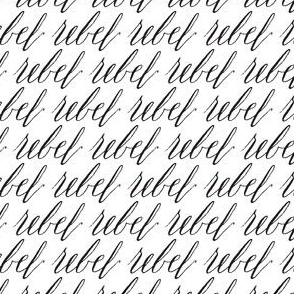 Rebel Black White Calligraphy Font Hand written words low volume _ Miss Chiff Designs
