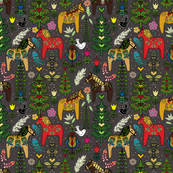 Swedish Folk Art Forest