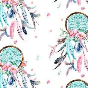 """4.5"""" Pink & Aqua Dreamcatcher"""