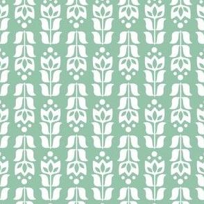 folksy flower - white/green