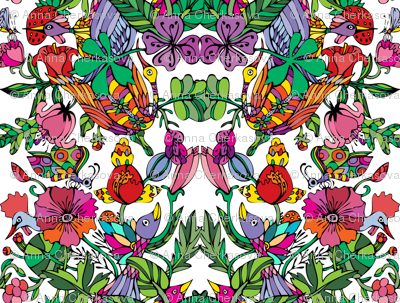 Floral pattern in vivid colors