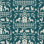 Dala Farm in Teal