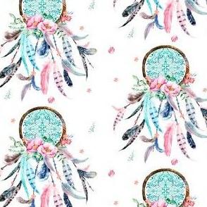 """3.5"""" Pink & Aqua Dreamcatcher"""