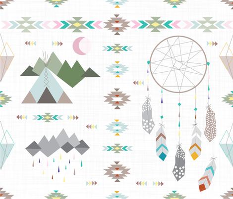 Bohemian Way of Life fabric by appaloosa_designs on Spoonflower - custom fabric