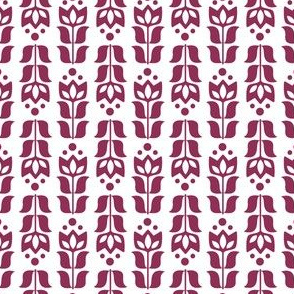 folksy flower - burgundy