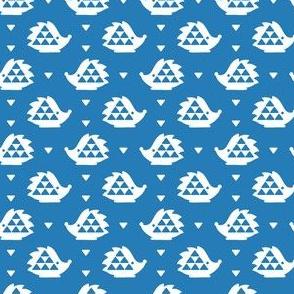 hedgehog - blue